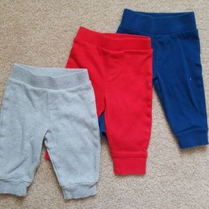Set of 3 Pants, 0-3 months